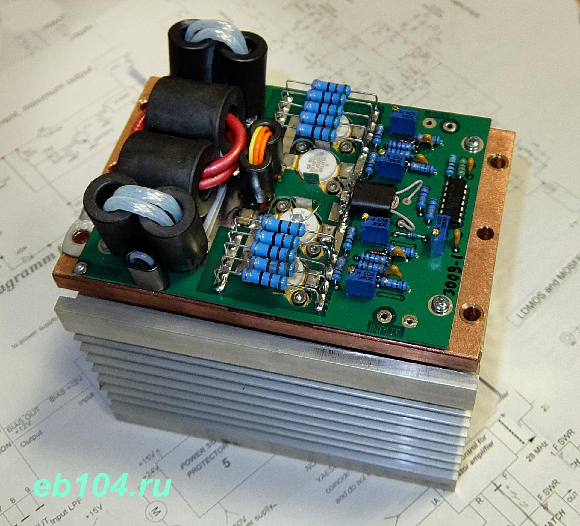 Hf Power Amplifier Ssb Cw 1000w Mosfet Sd2943 Copper And Heat Sink 300khz 30mhz Linear