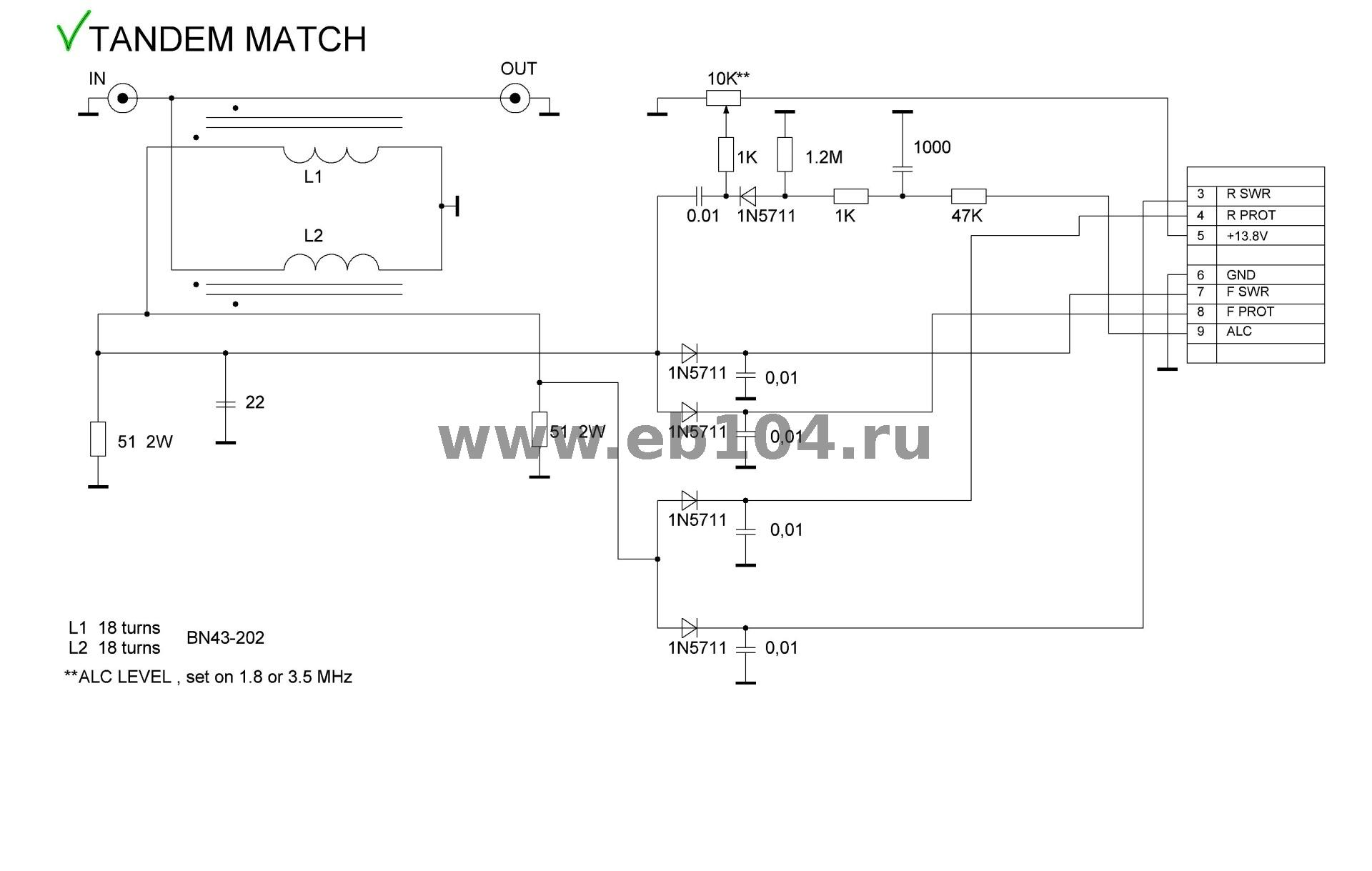 1200W SWR bridge ( Tandem – Match)